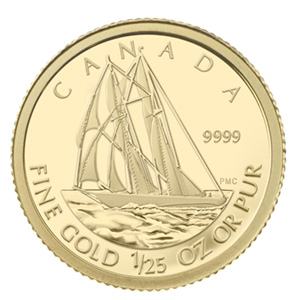 2012 Canada 1/25 oz Proof Gold $0.50 Bluenose (w/Box & COA)