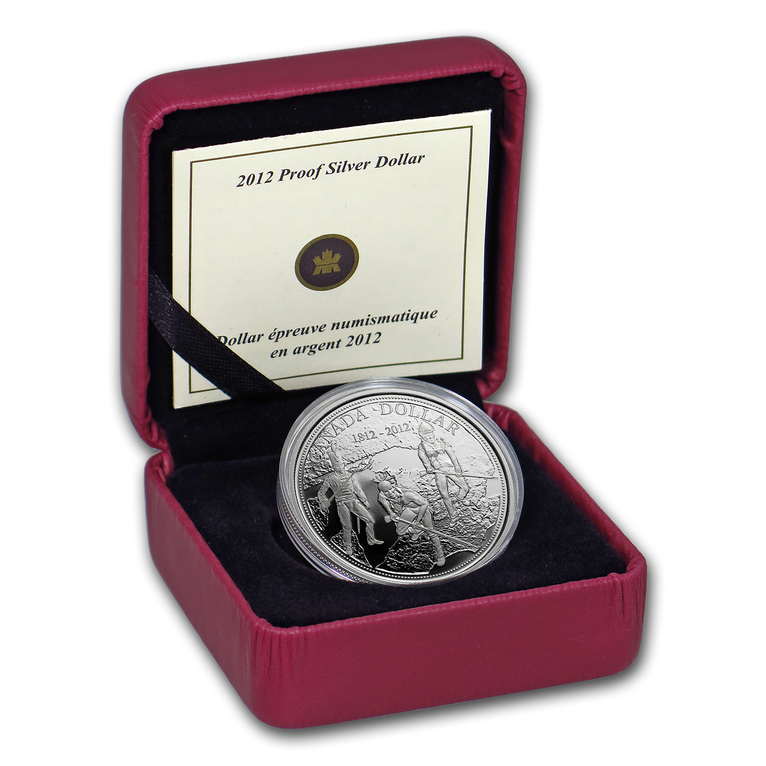 2012 Canada Silver $1 War of 1812 Proof (w/Box & COA)