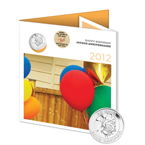 2012 RCM 6-Coin Birthday Gift Set (w/Cupcake Quarter & Card)