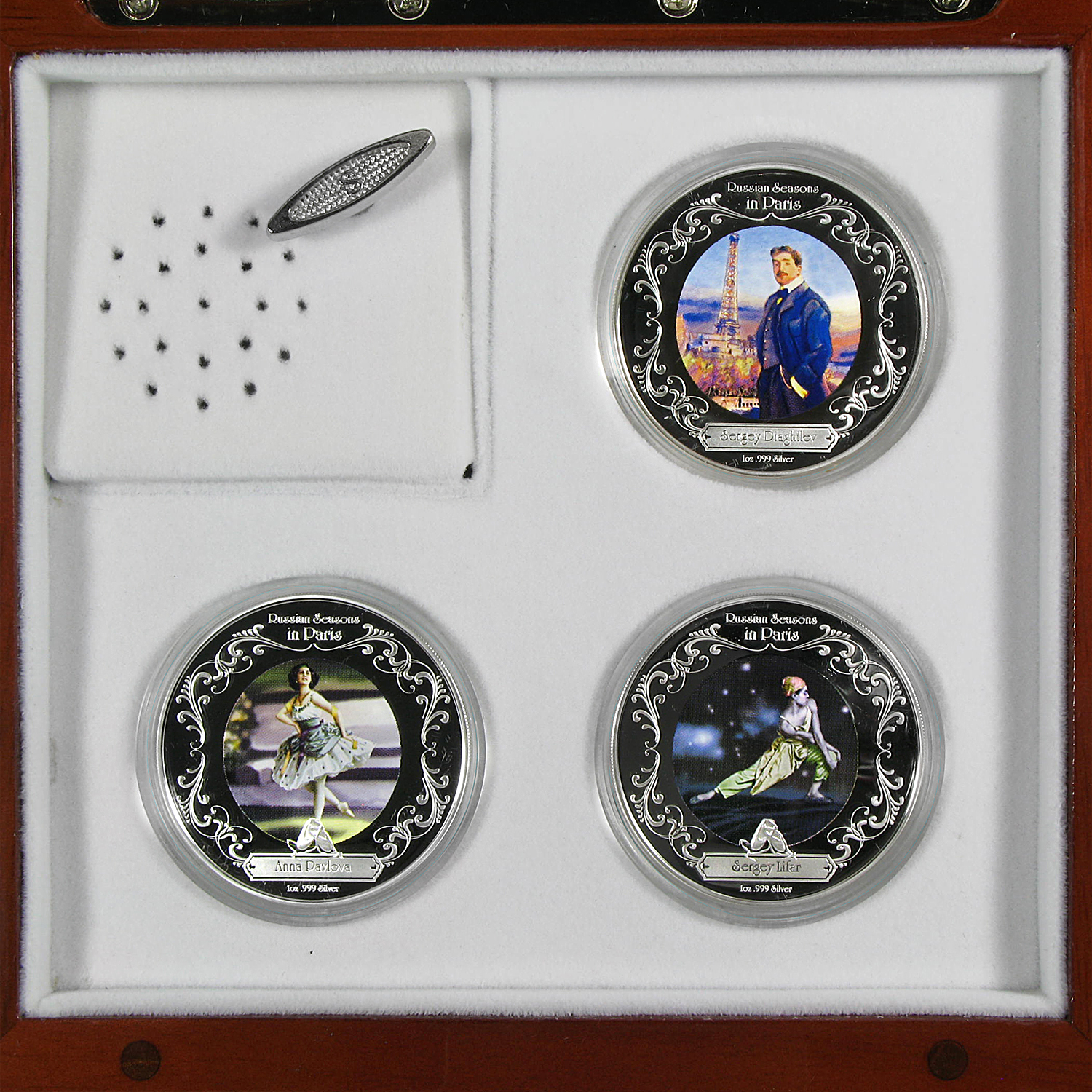 2009 Niue 3x 1 oz Silver $2 Russian Ballet Set BU (Music Box)