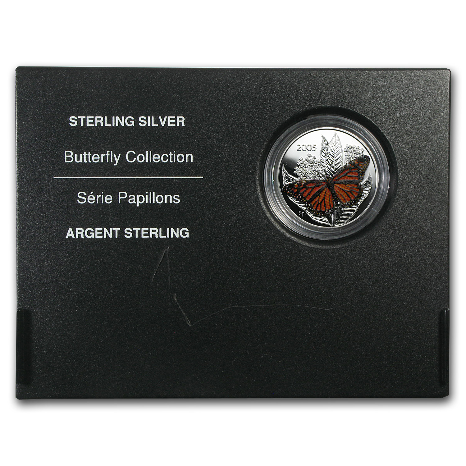 2005 Silver Canadian $0.50 Monarch Butterfly Proof (w/Box)