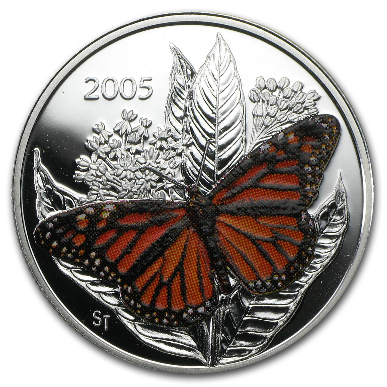 2005 Canada Silver $0.50 Monarch Butterfly Proof (w/Box)