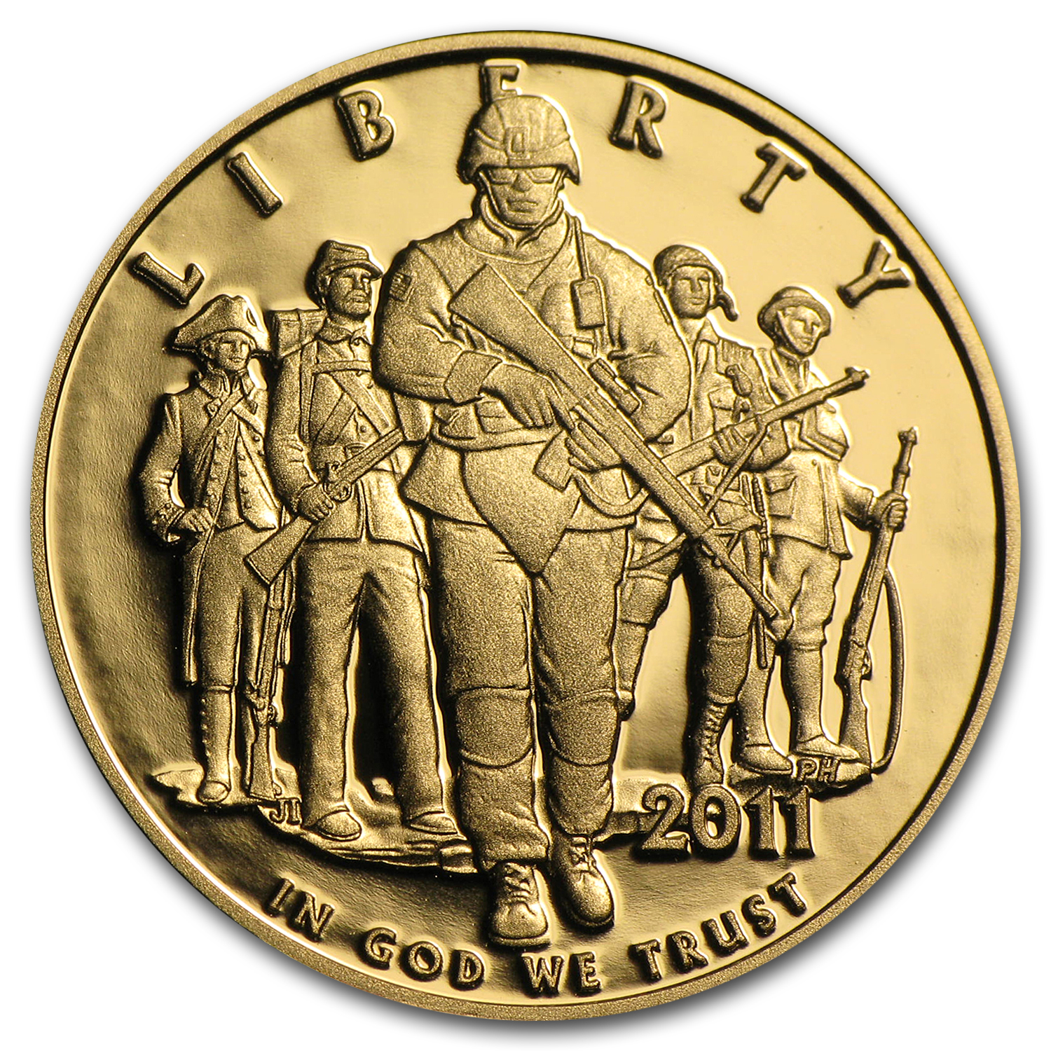 2011-P Gold $5 Commemorative Army Proof