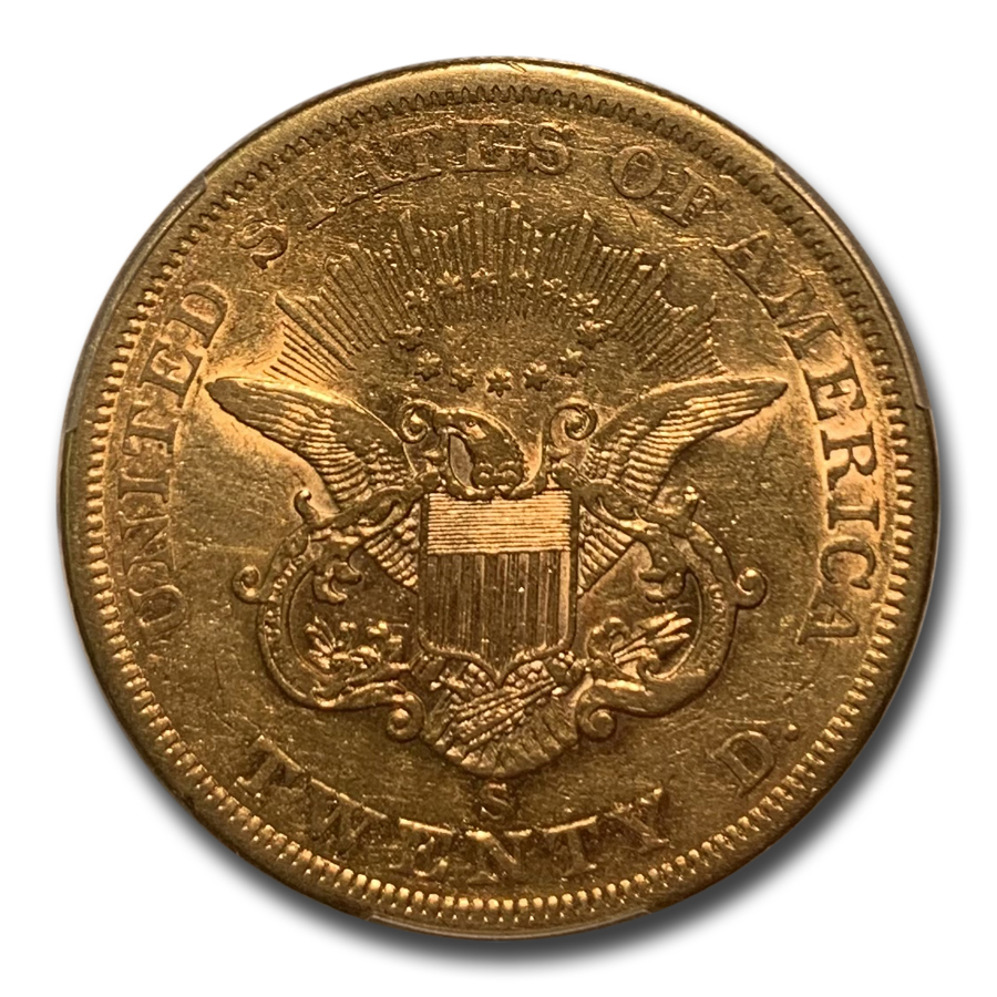 1861-S $20 Liberty Gold Double Eagle XF-45 PCGS