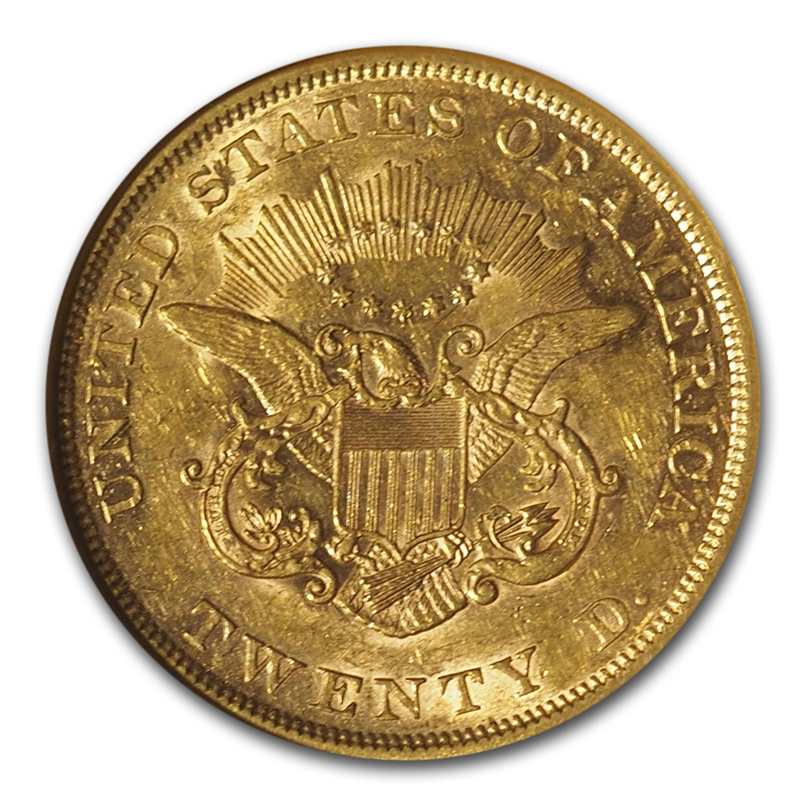 1853 $20 Liberty Gold Double Eagle AU-55 NGC