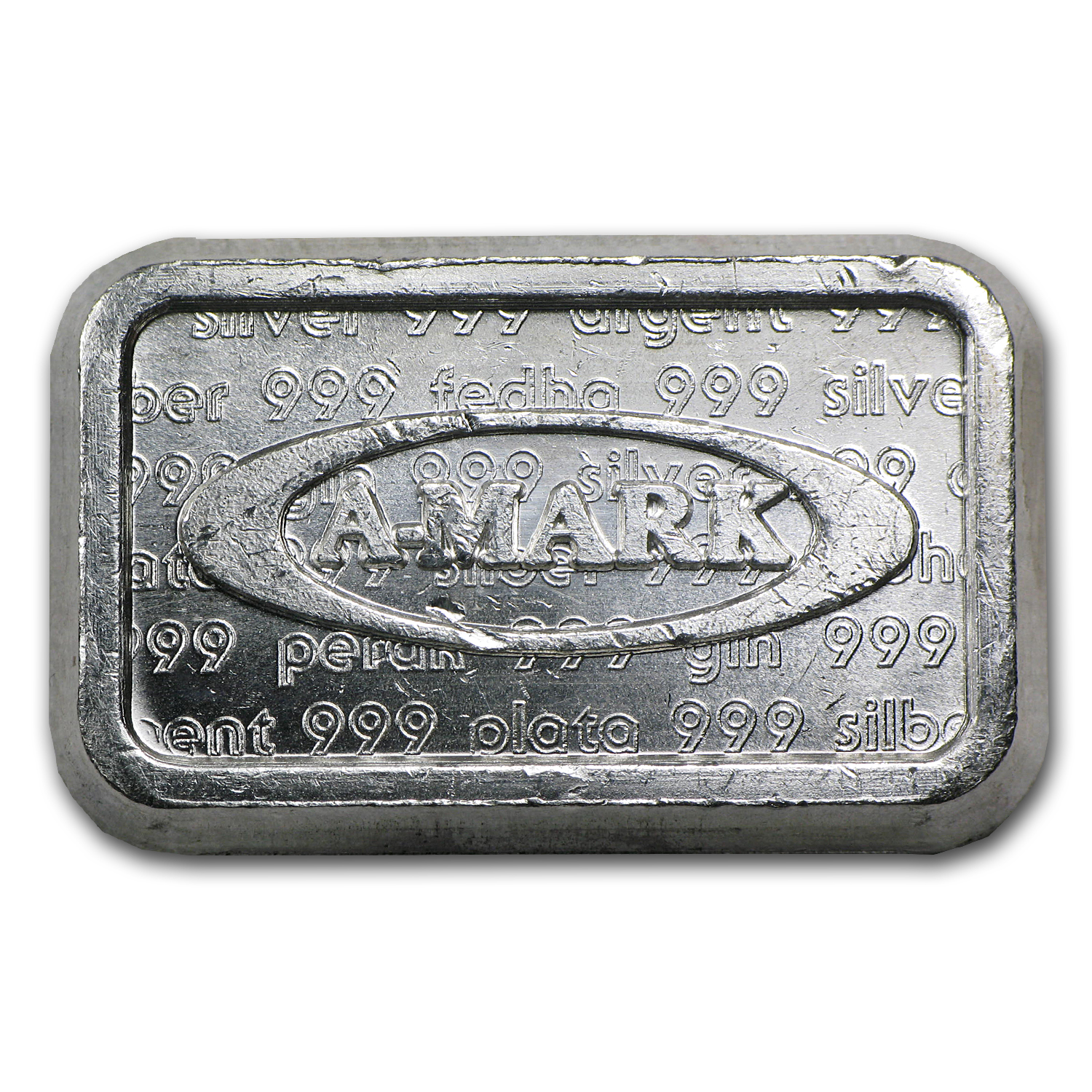 1 oz Silver Bar - A-Mark Brick (Type-1)