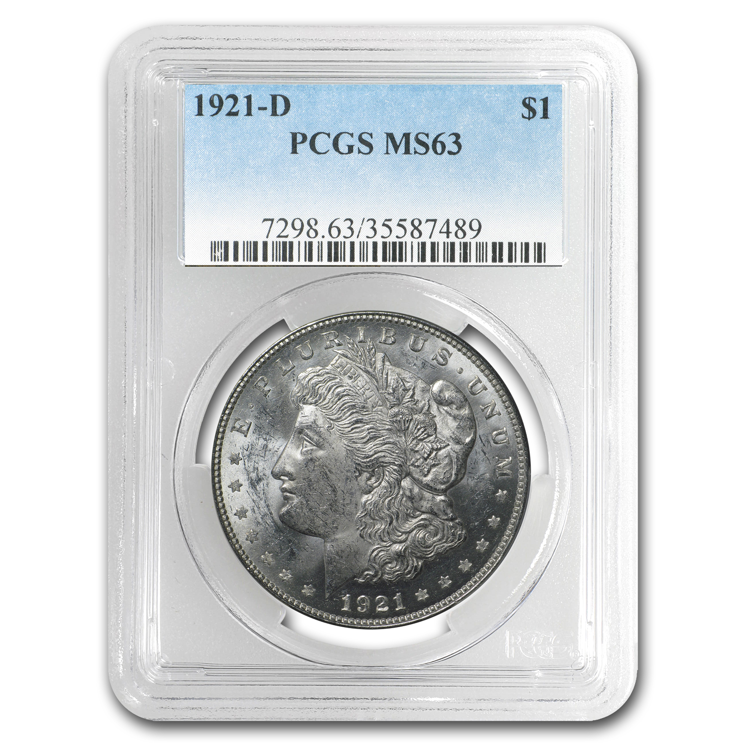 Morgan Dollar - 5 Coin Mintmark Set - MS-63 PCGS