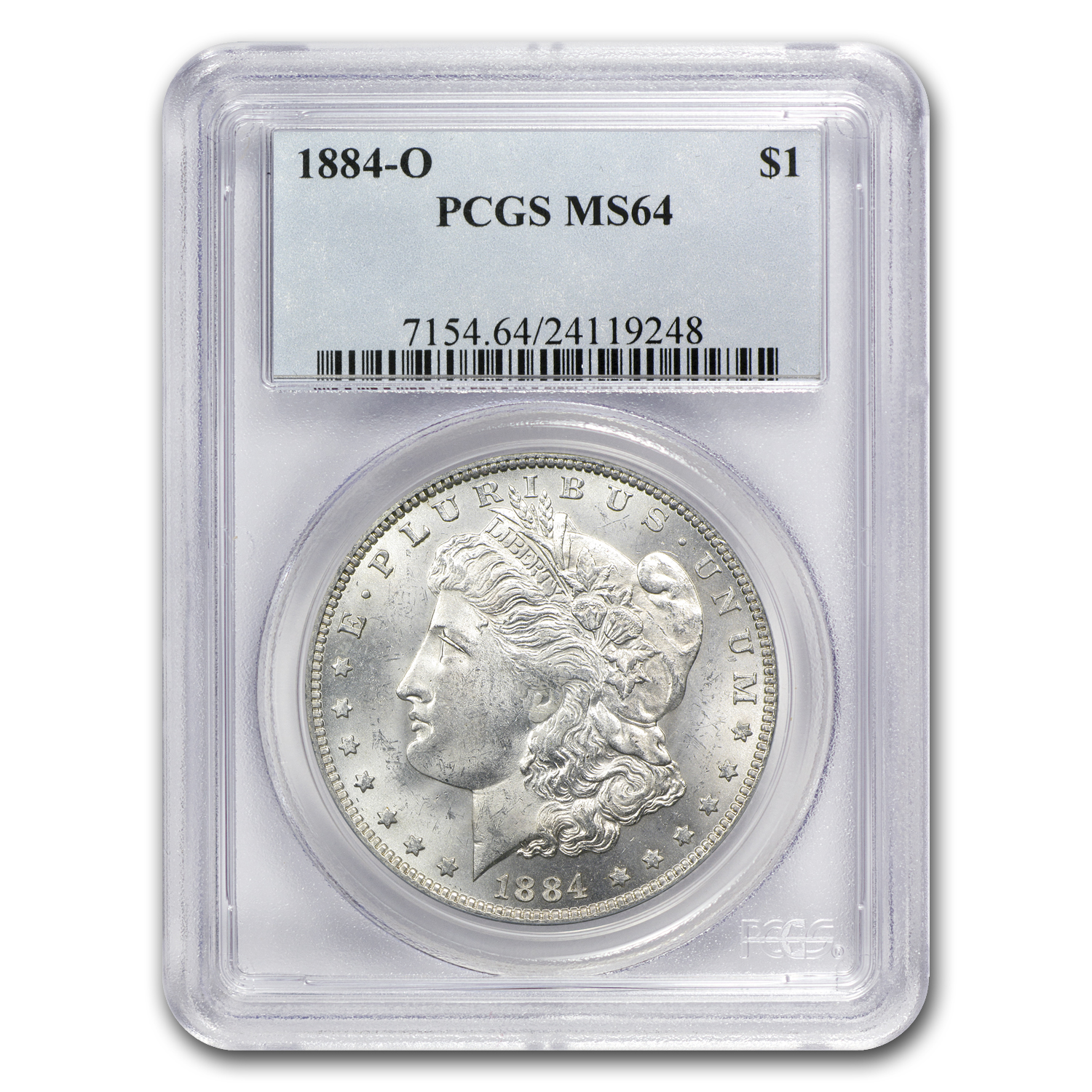 1878-1921 5-Coin Morgan Dollar Mintmark Set MS-64 PCGS