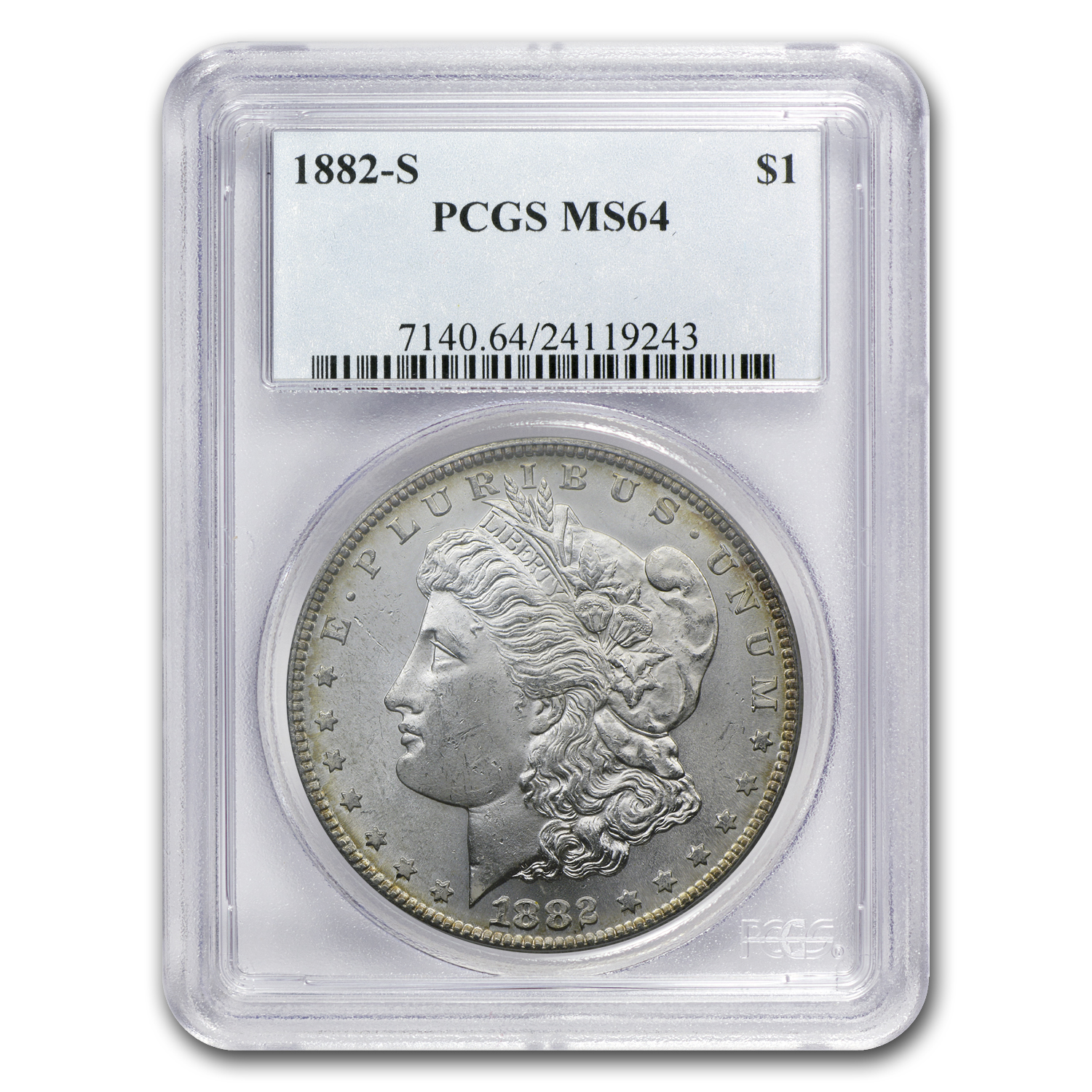 Morgan Dollar - 5 Coin Mintmark Set - MS-64 PCGS