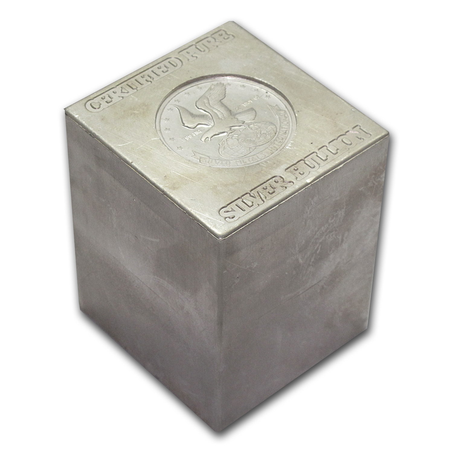 100 Oz Silver Bar Silver Metals International Cube