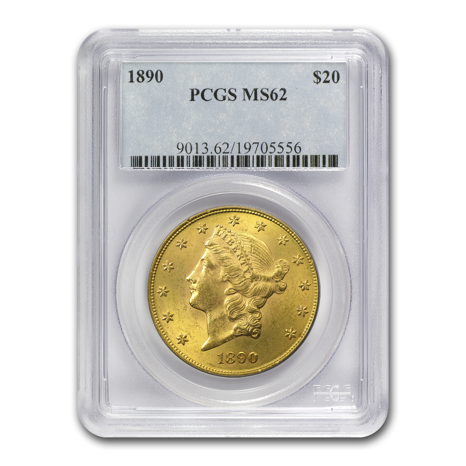 1890 $20 Liberty Gold Double Eagle MS-62 PCGS