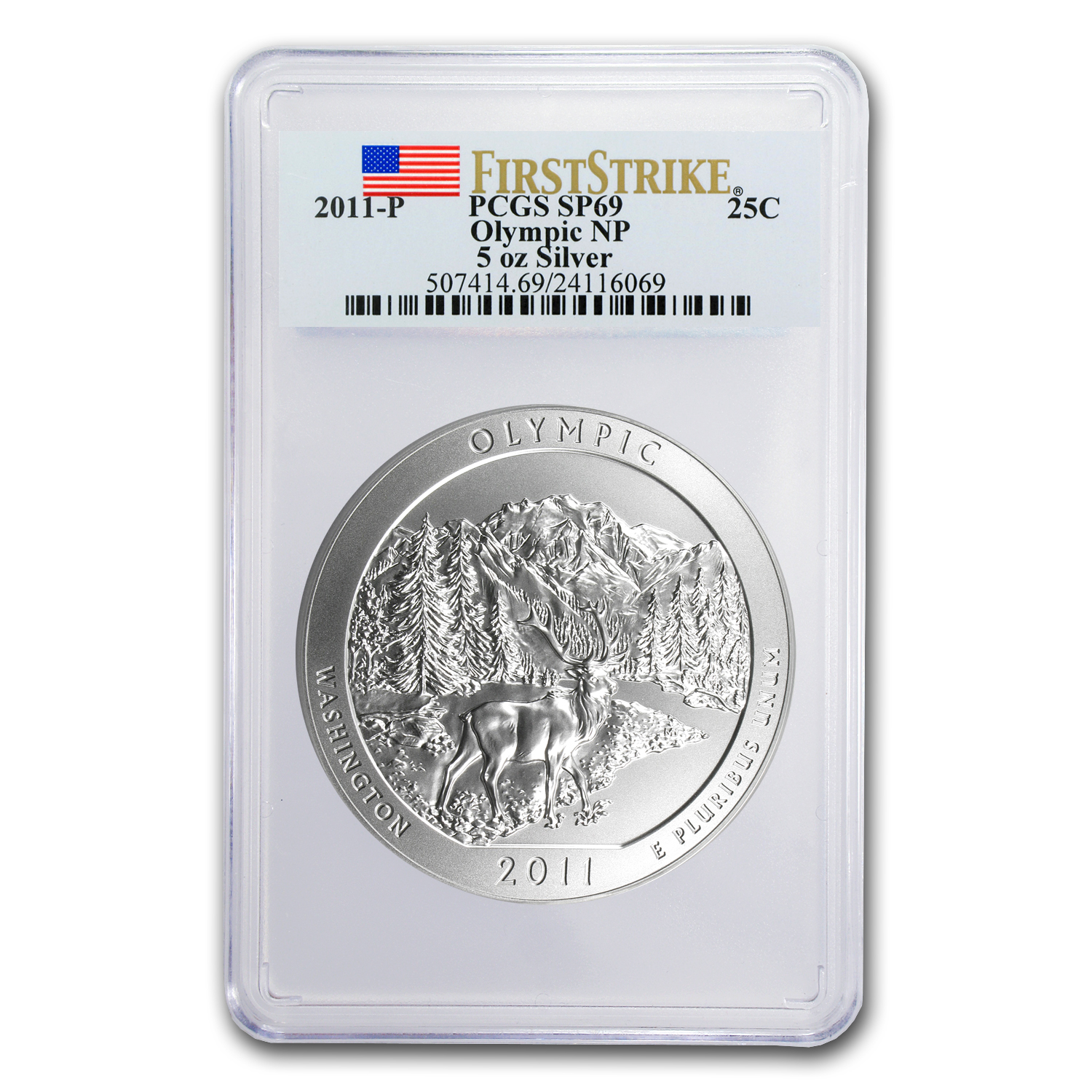 2011-P 5 oz Silver ATB Olympic SP-69 PCGS (First Strike)