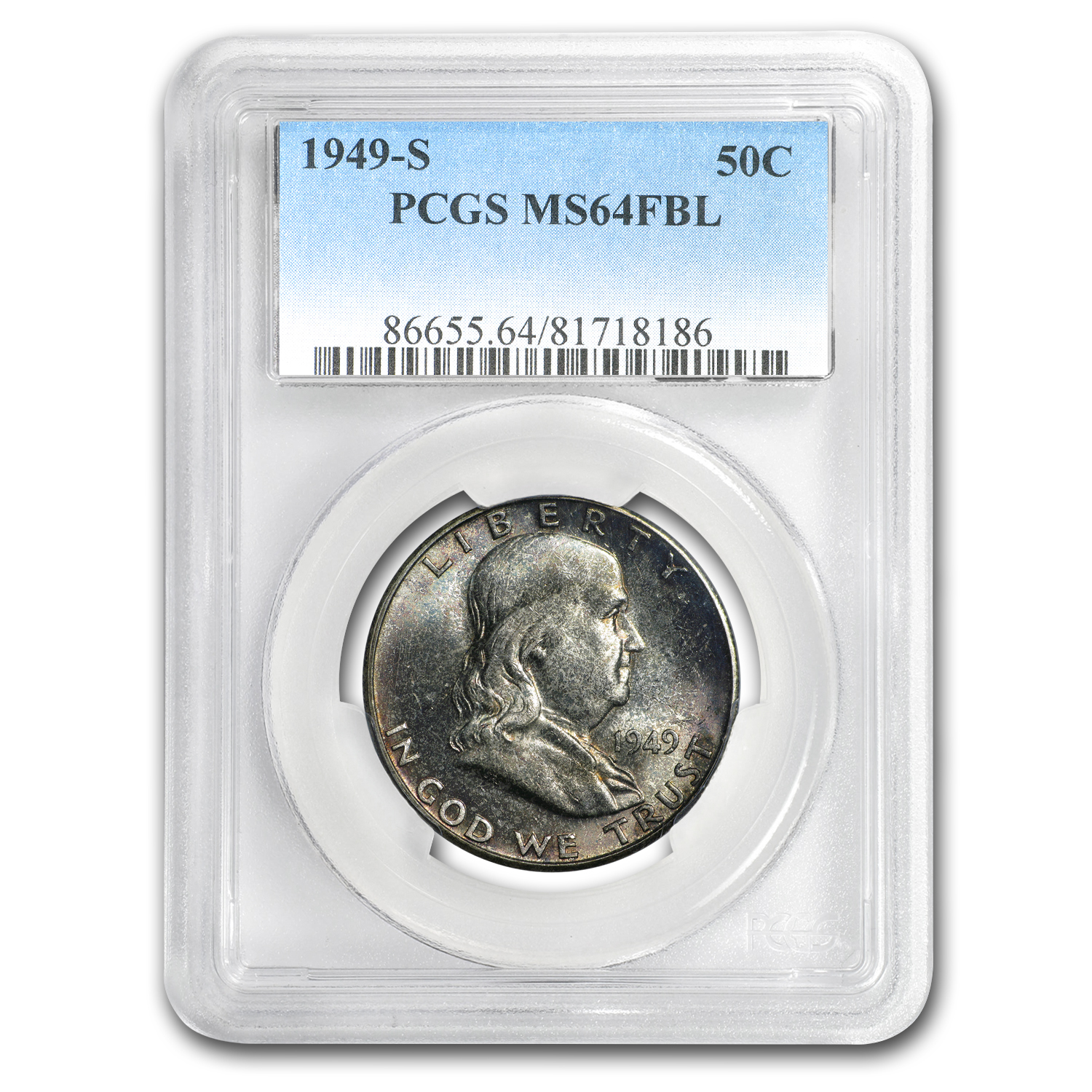 1949-S Franklin Half Dollar MS-64 PCGS (FBL)