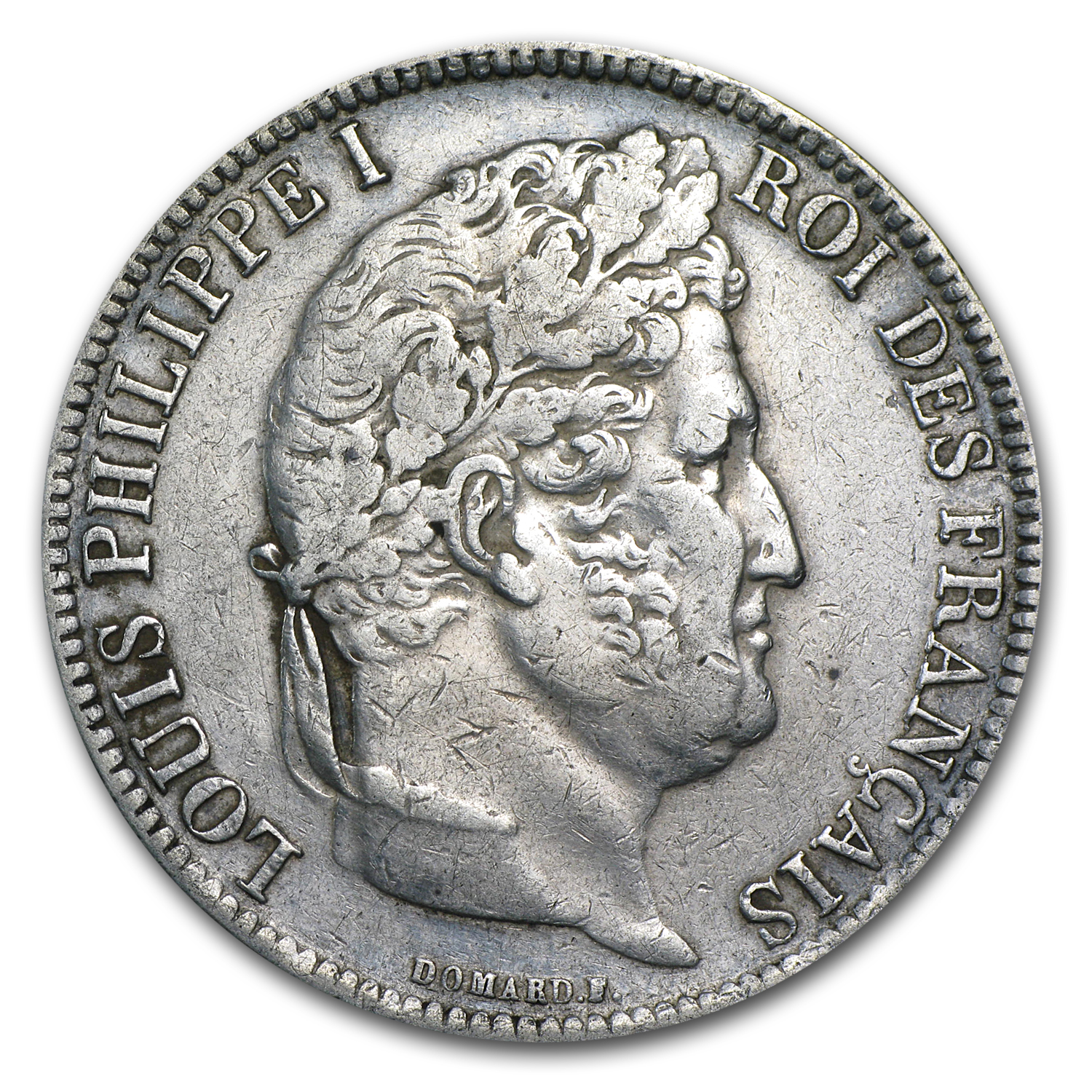 1831-W France Silver 5 Francs Louis Philippe VF/EF