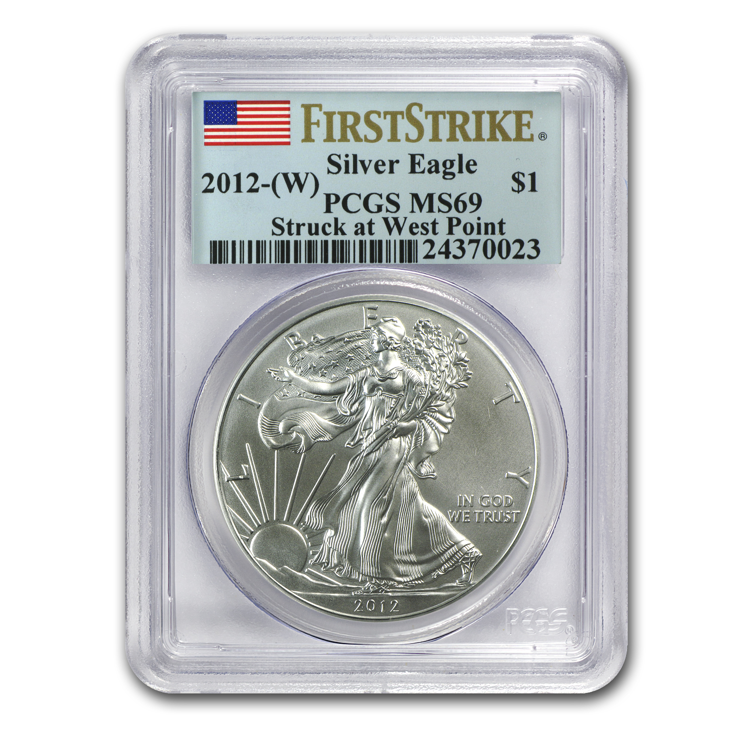 2012 (W) Silver American Eagle MS-69 PCGS (First Strike)