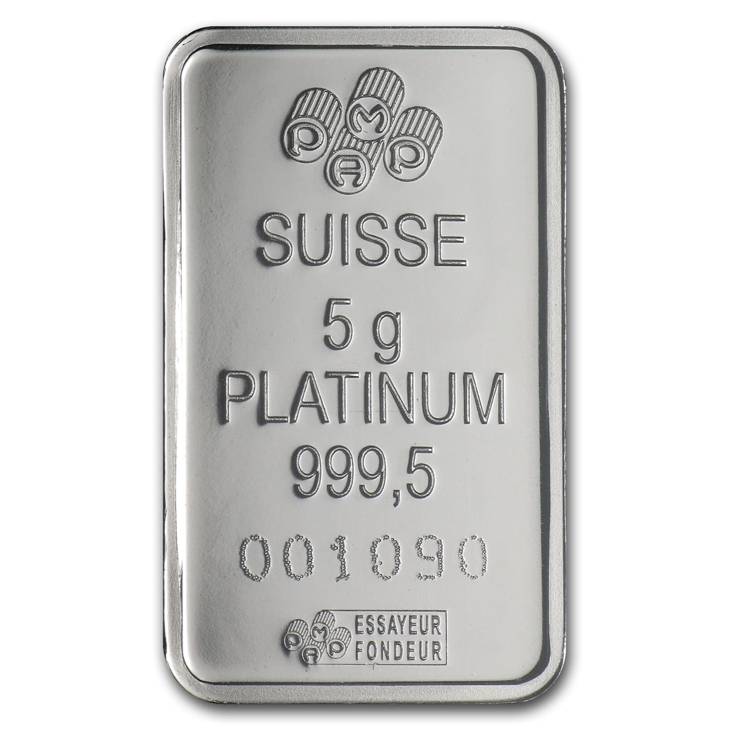 5 gram Platinum Bar - PAMP Suisse (In Assay)