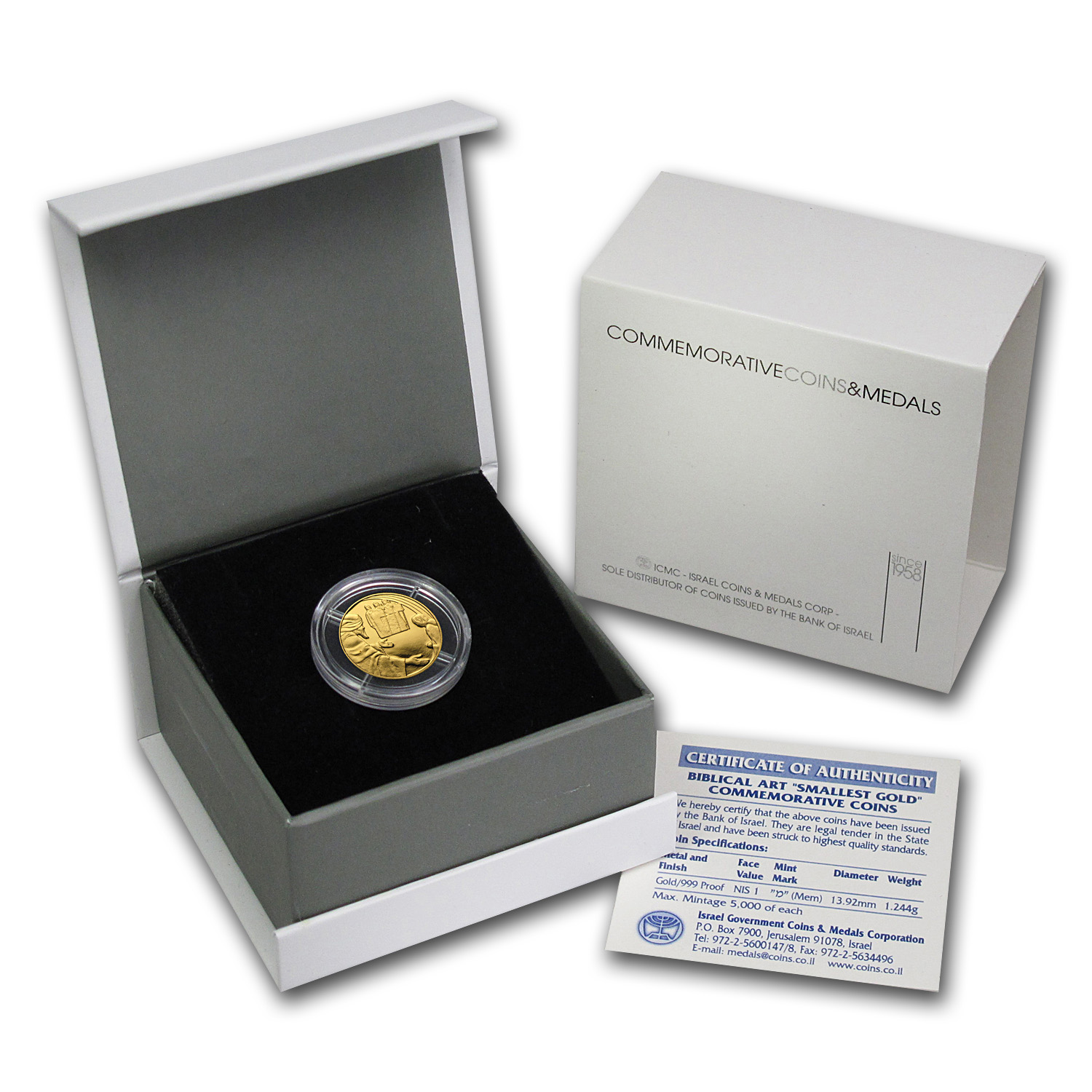 2007 Israel 1/25 oz Proof Gold Abraham & the Angels