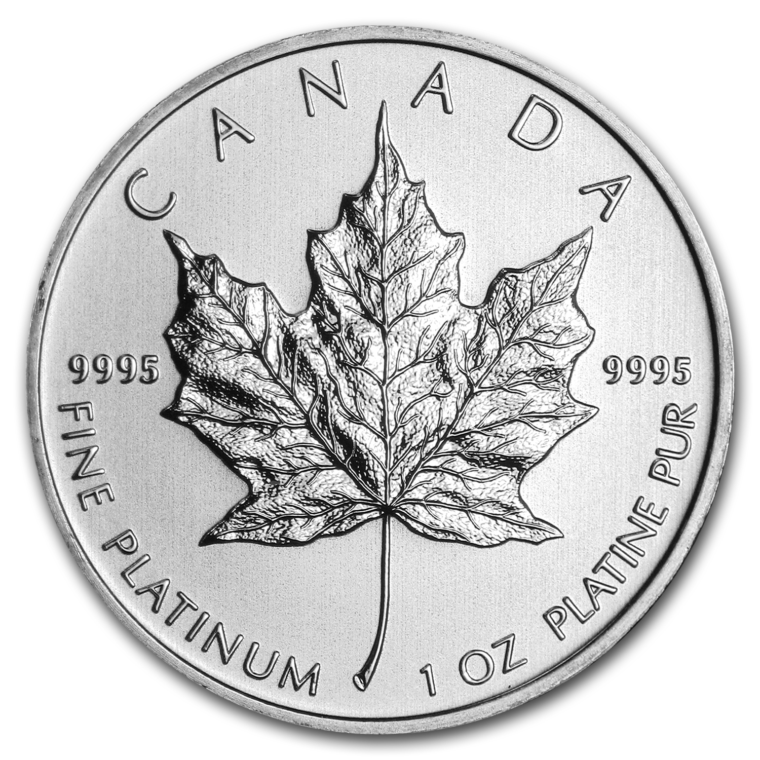 2012 1 oz Canadian Platinum Maple Leaf BU