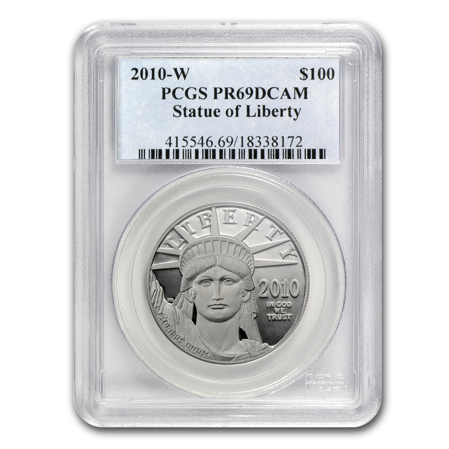 2010-W 1 oz Proof Platinum American Eagle PR-69 PCGS