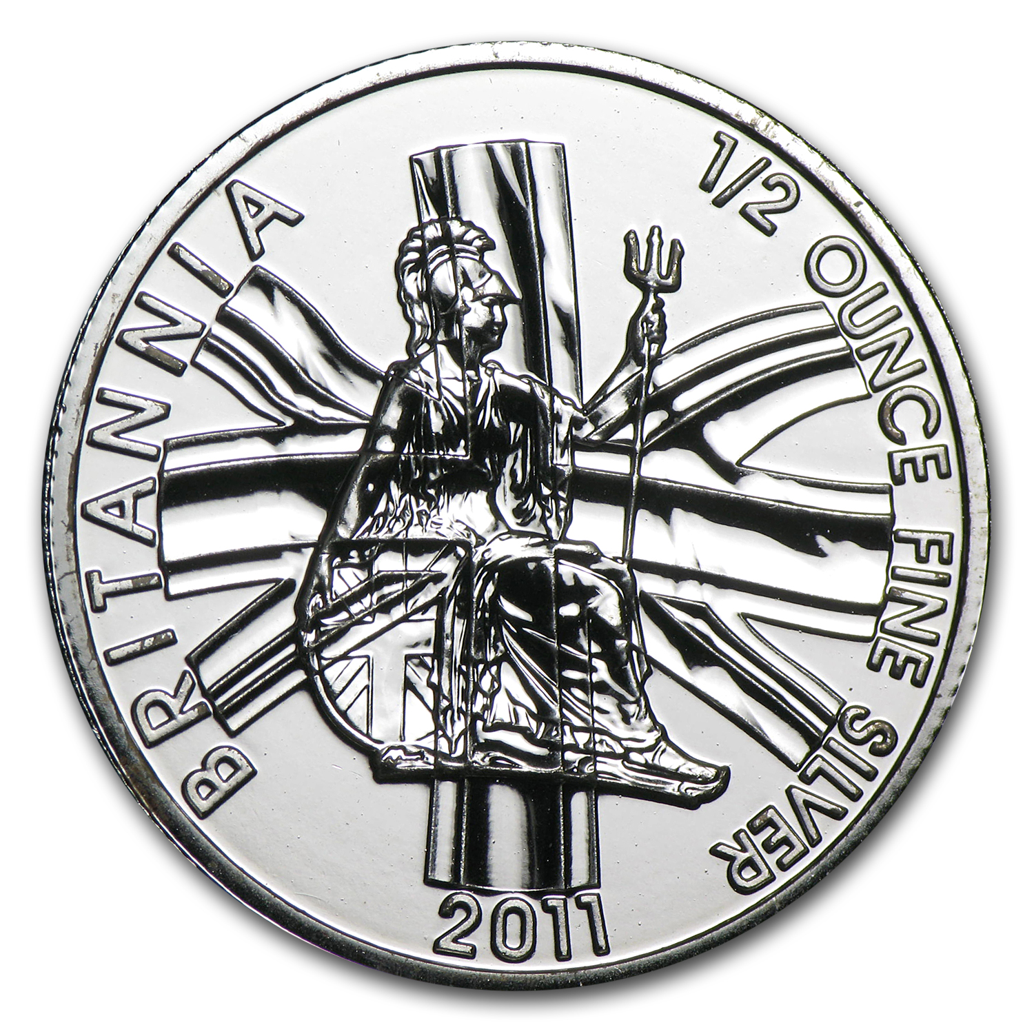2011 Great Britain 1/2 oz Silver Britannia BU