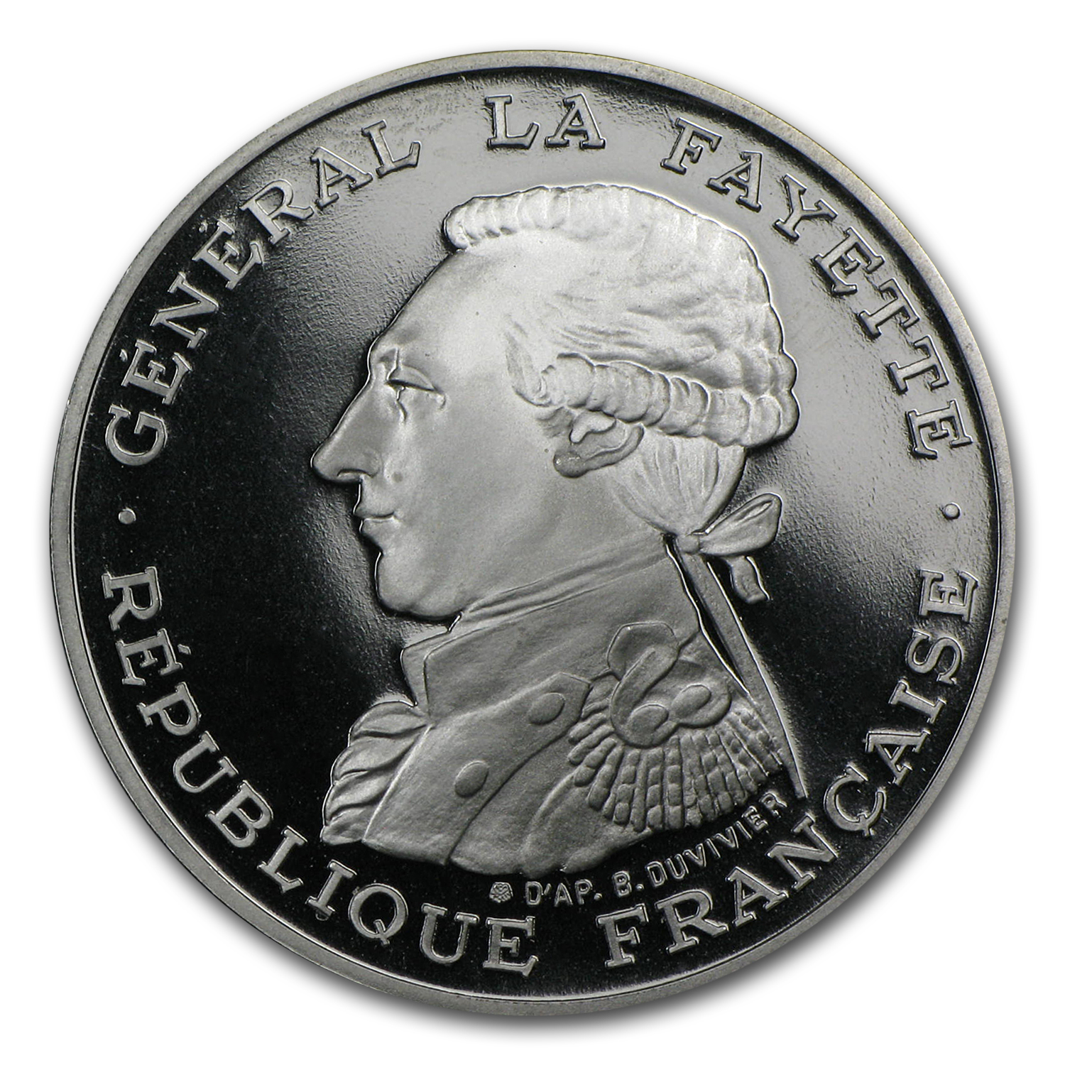 1987 Palladium 100 Francs General Lafayette Proof