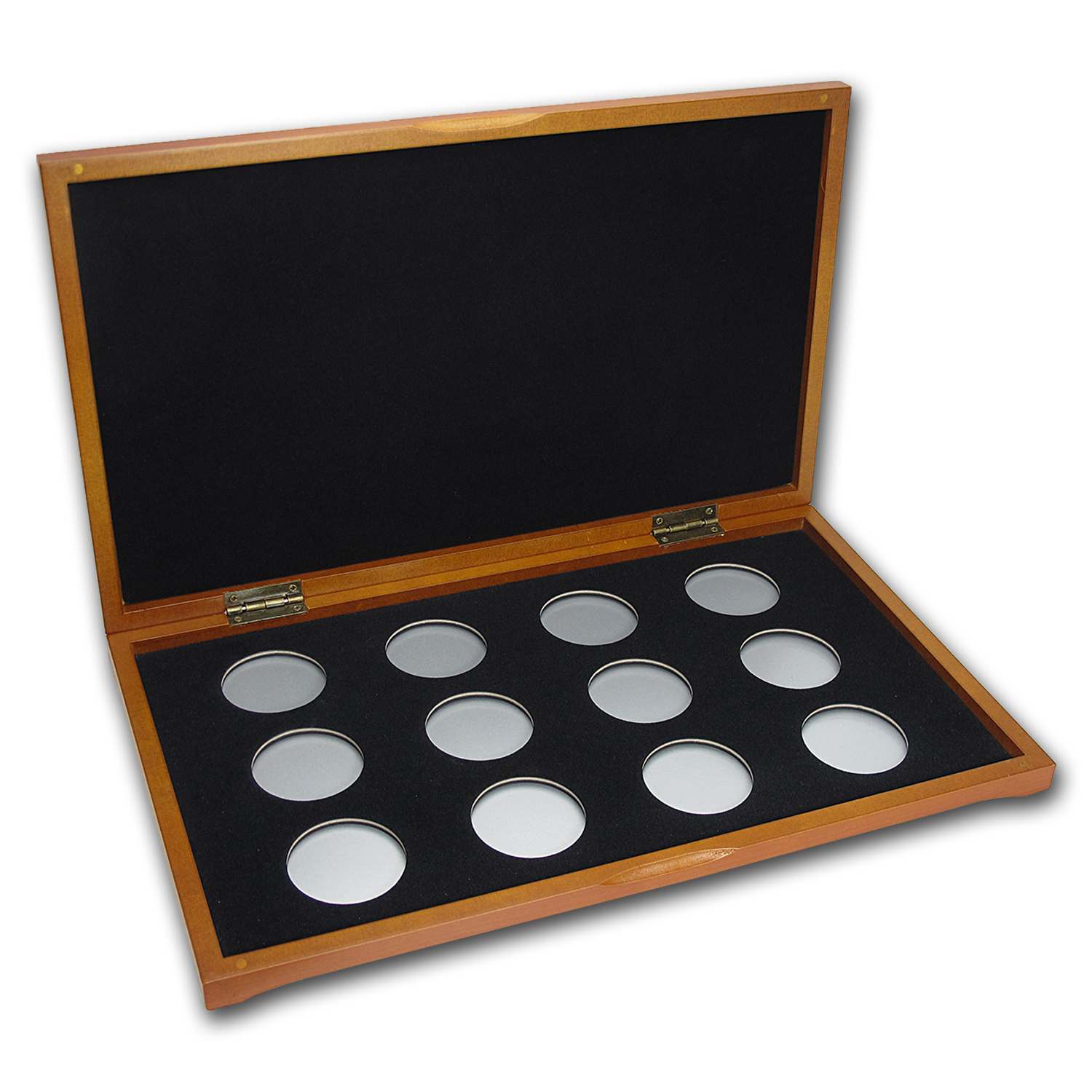 Lunar Series I (1 oz Silver) 12 coin Wood Presentation Box