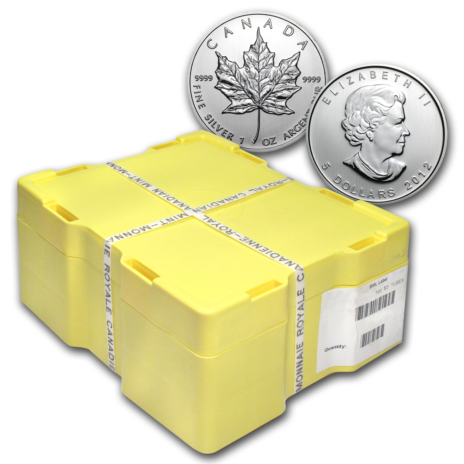2012 Canada 500-Coin Silver Maple Leaf Monster Box (Sealed)