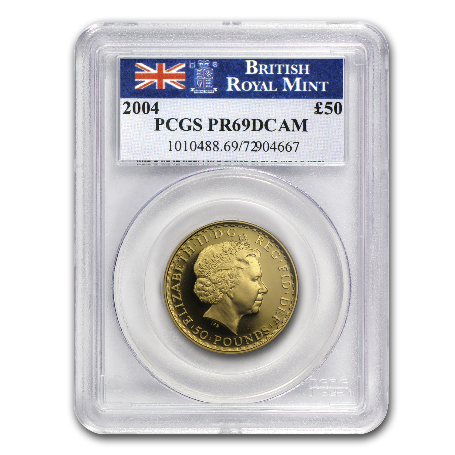 2004 Great Britain 1/2 oz Proof Gold Britannia PR-69 PCGS