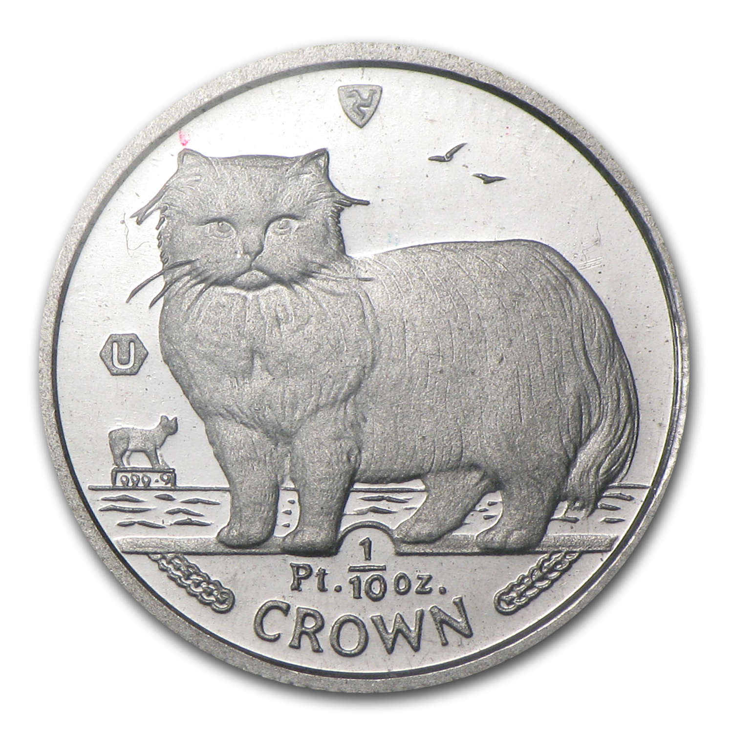 1/10 oz Isle of Man Platinum Persian Cat