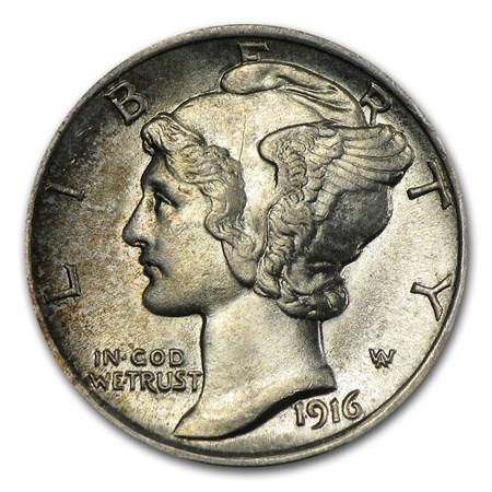 1916 Mercury Dime Bu Mercury Dimes 1916 1945 Apmex