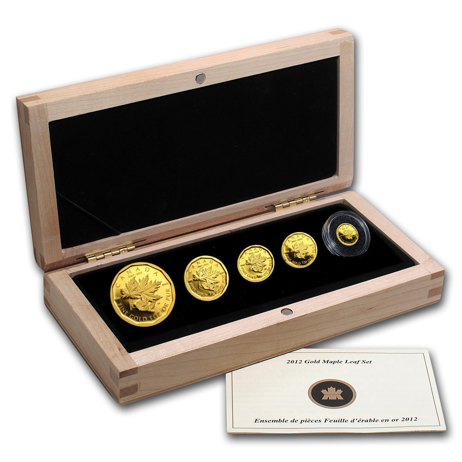 2012 Canada 5-Coin Gold $1 Million Coin 5th Anniv GML Proof Set