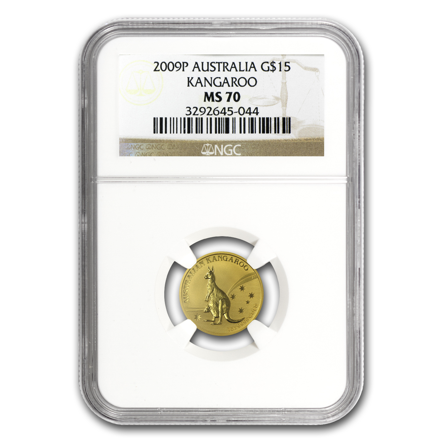 2009 Australia 5-Coin Gold Kangaroo Set MS-70 NGC
