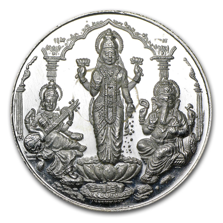 1 Oz Silver Round Saraswati Lakshmi Amp Ganesha 1 Oz