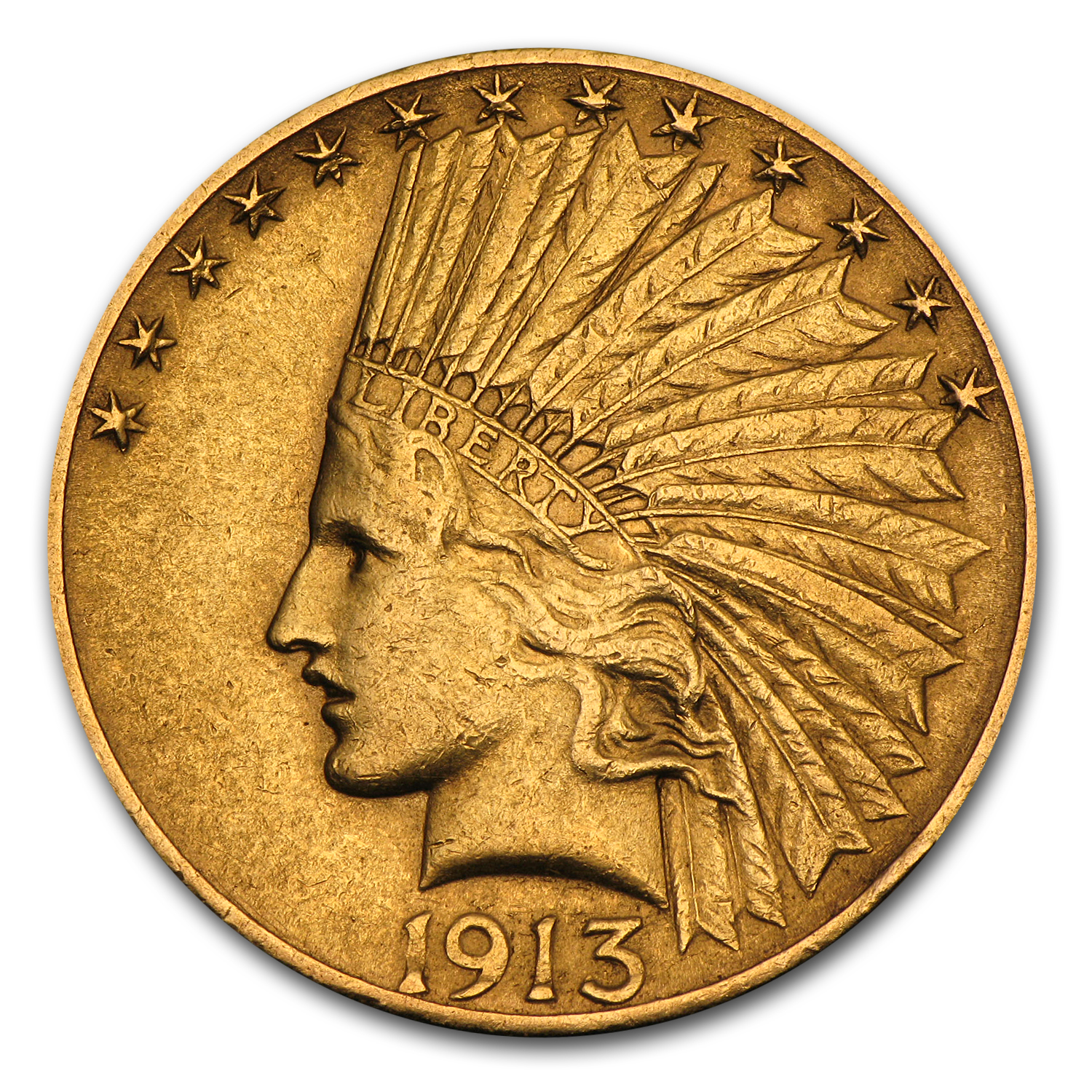 1913-S $10 Indian Gold Eagle Almost Uncirculated