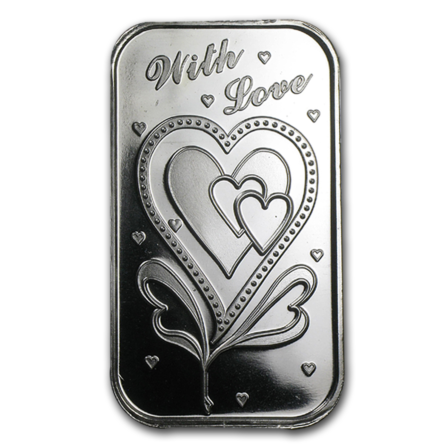 1 oz Silver Bars - With Love (w/Box & Capsule)