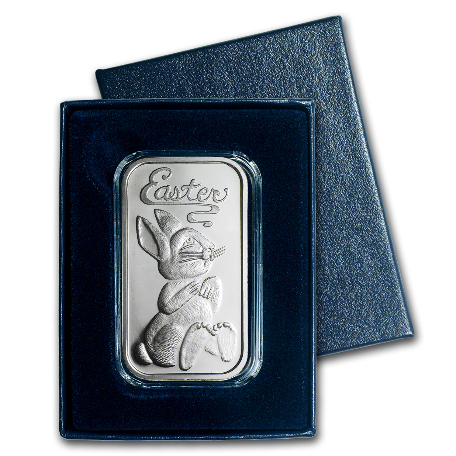 1 oz Silver Bar - Easter Bunny (w/Box & Capsule)