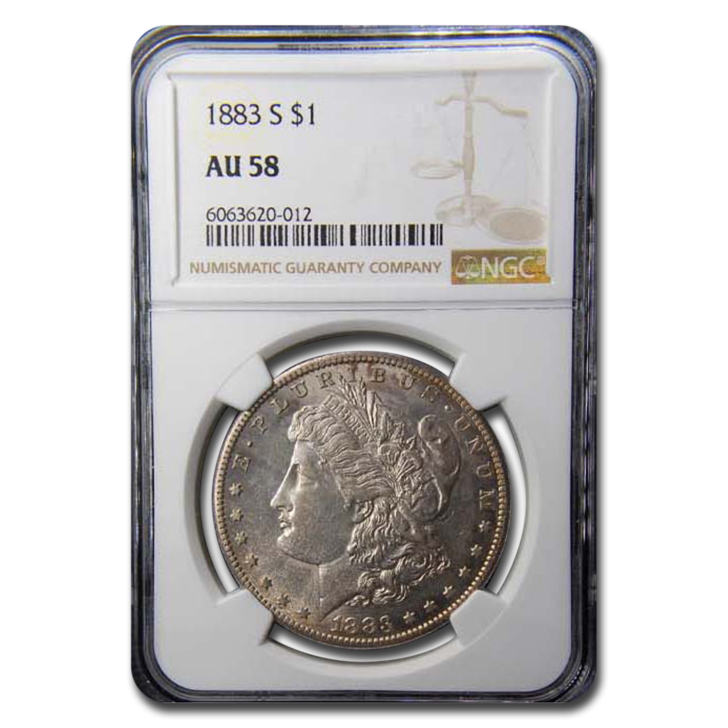 1883-S Morgan Dollar AU-58 NGC