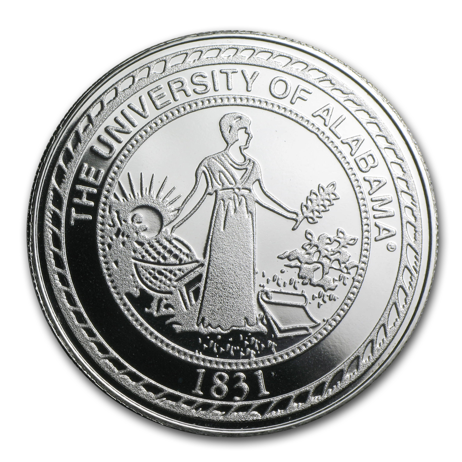 1 oz Silver Round - University of Alabama
