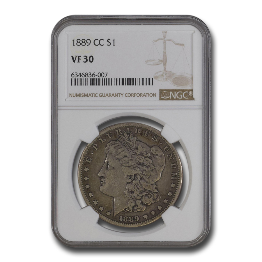 1889-CC Morgan Dollar VF-30 NGC