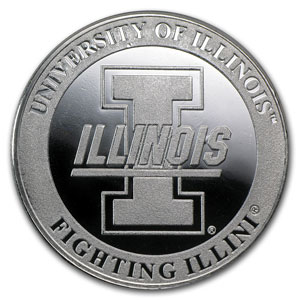 1 oz University of Illinois Silver Round