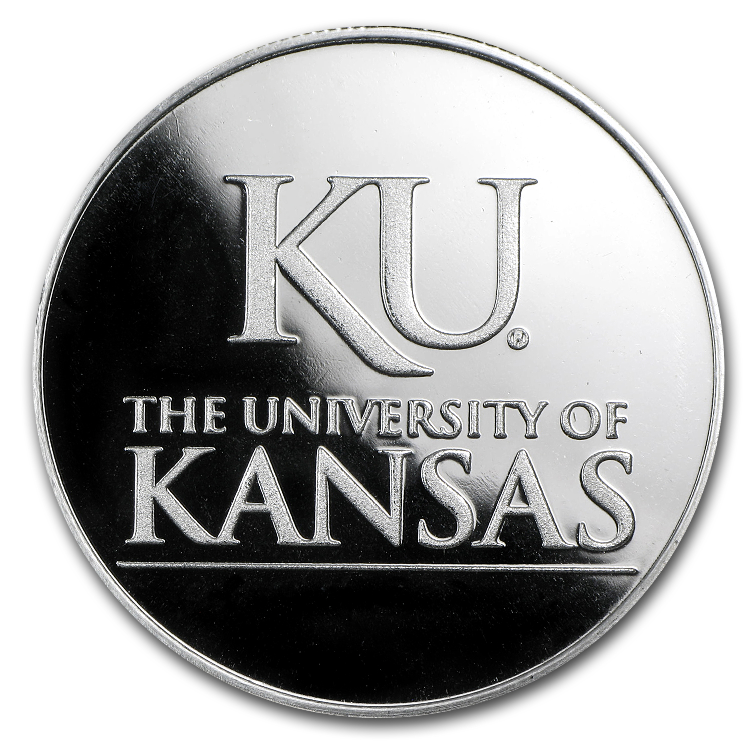 1 oz University of Kansas Silver Round