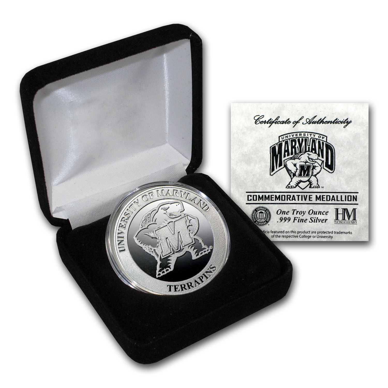 1 oz University of Maryland Silver Round