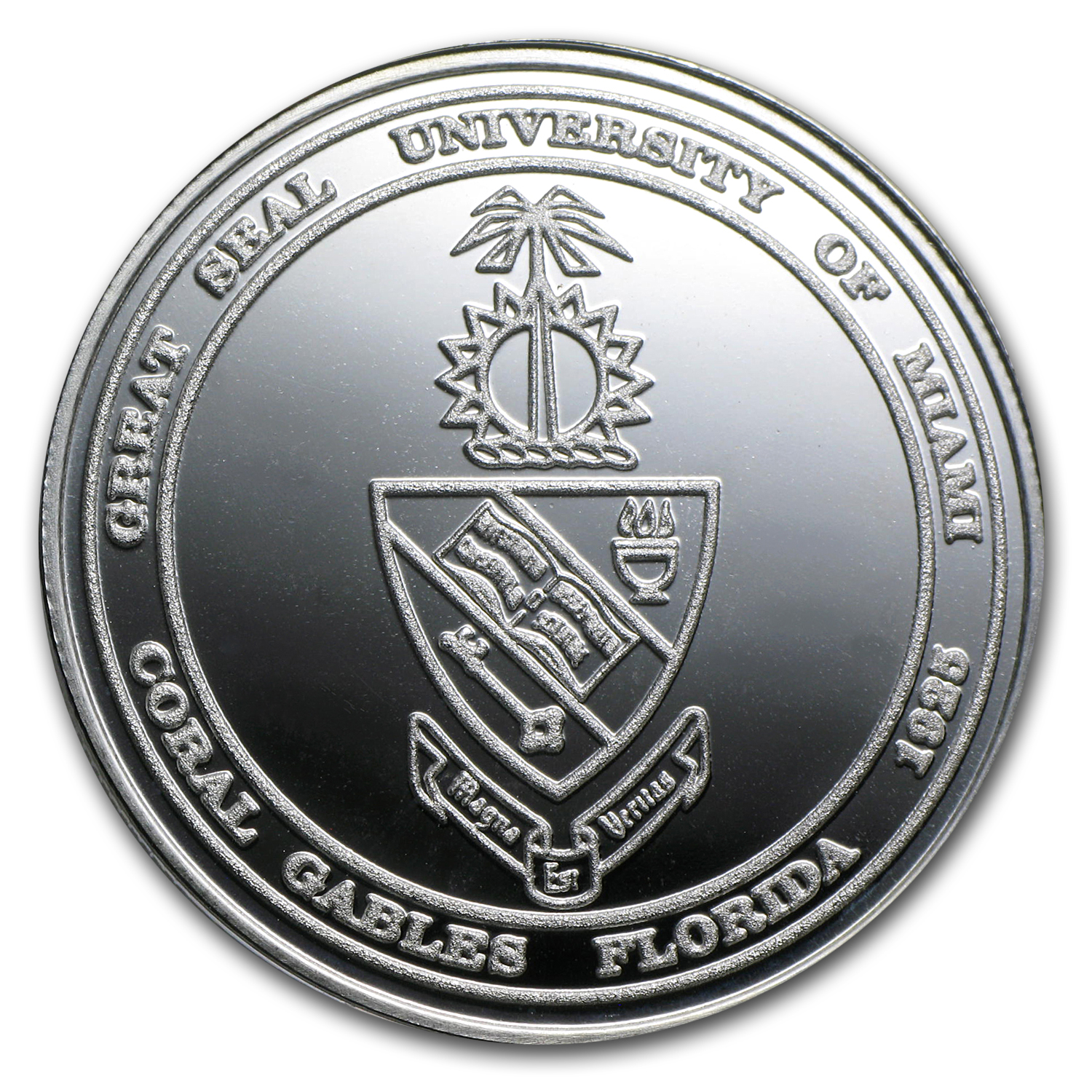 1 oz University of Miami Silver Round