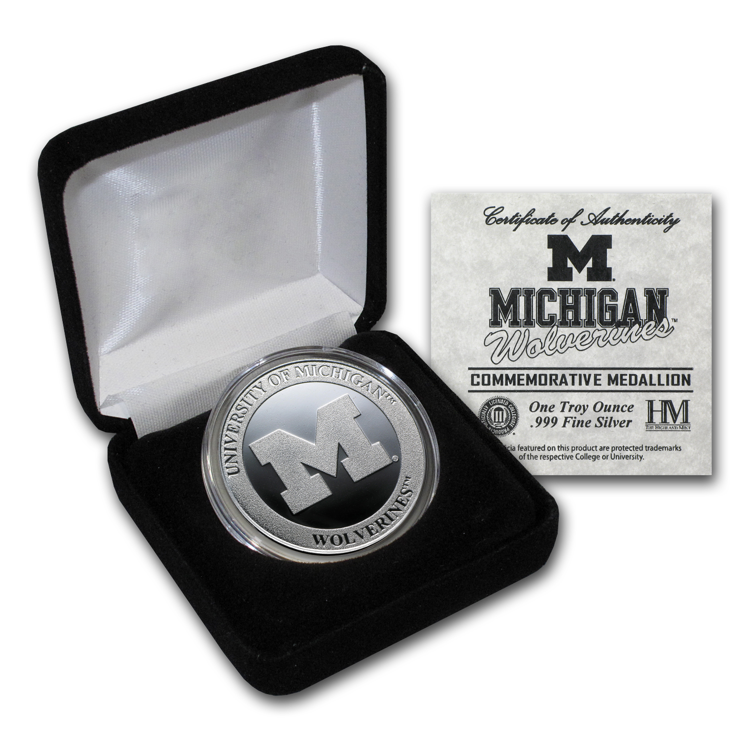 1 oz University of Michigan Silver Round