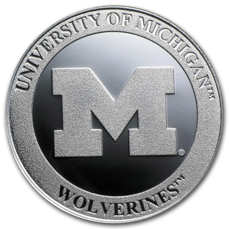 Buy Silver Online Buy 1 Oz University Of Michigan Silver