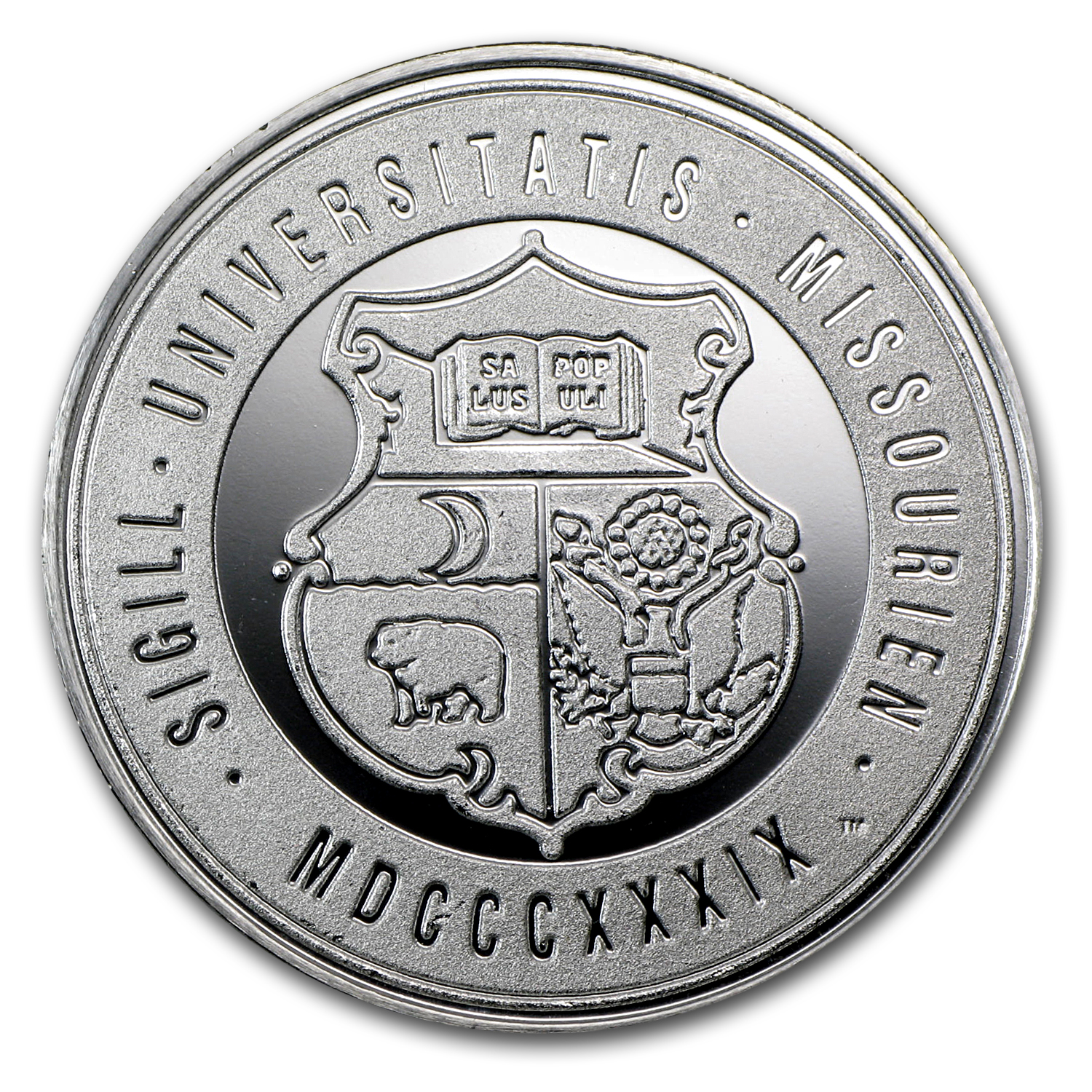 1 oz University of Missouri Silver Round