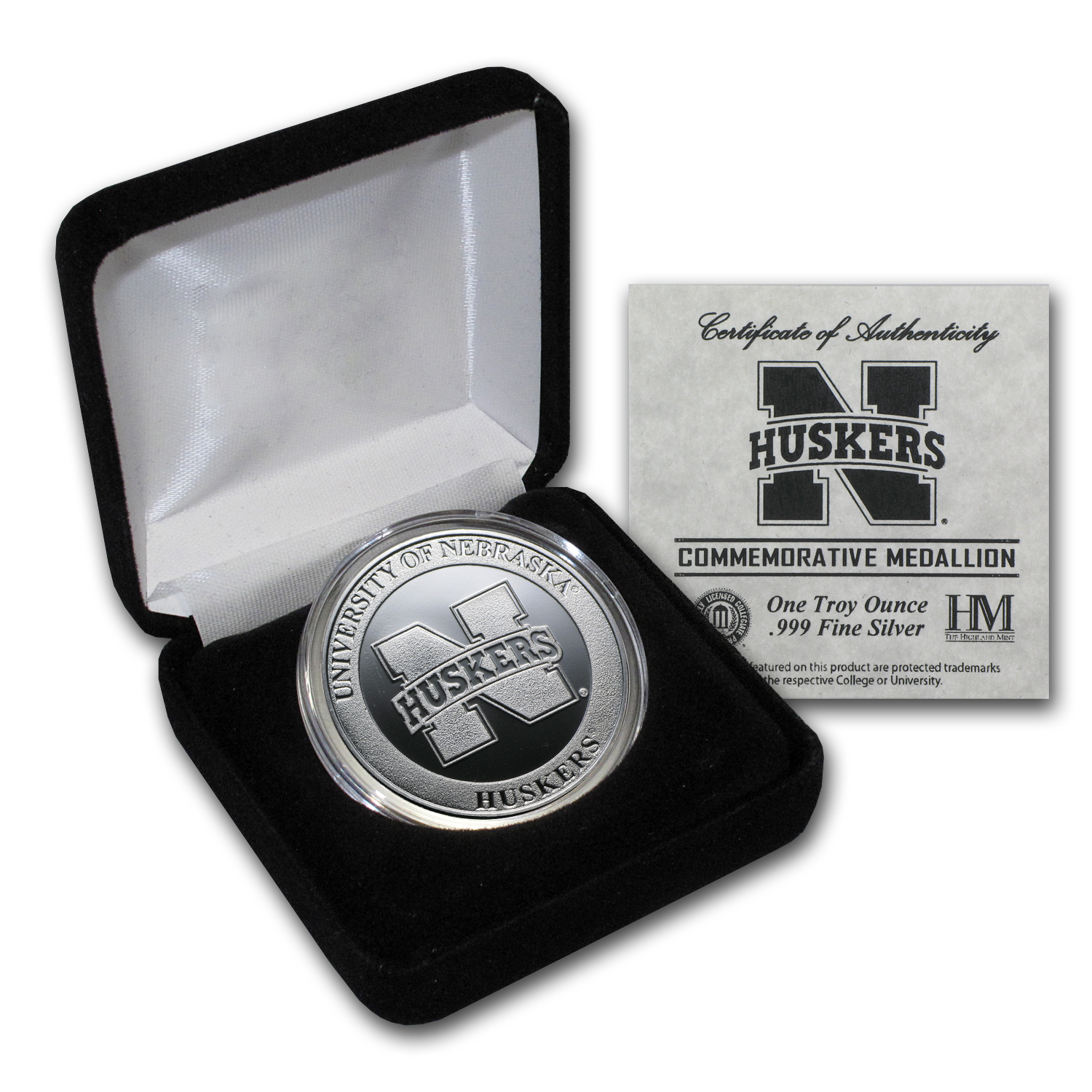 1 oz University of Nebraska Silver Round