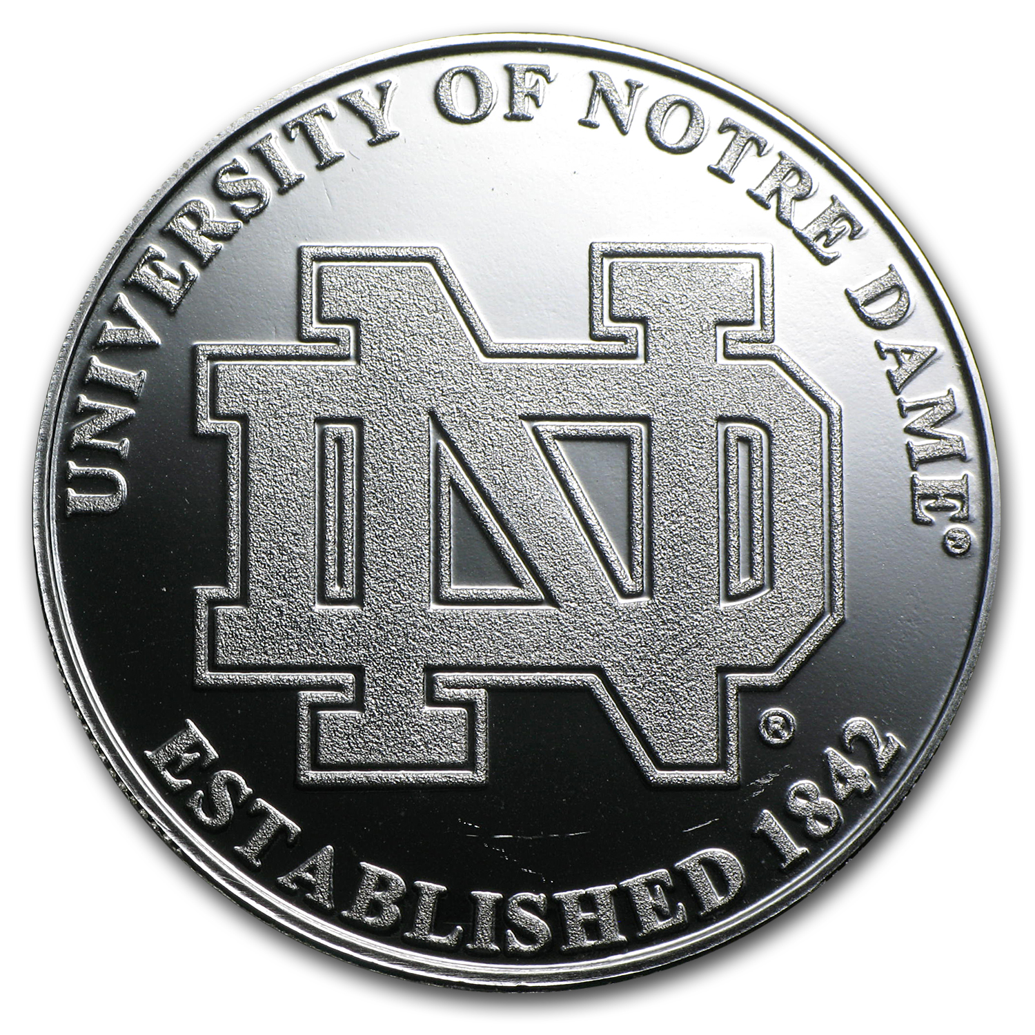 1 oz University of Notre Dame Silver Round