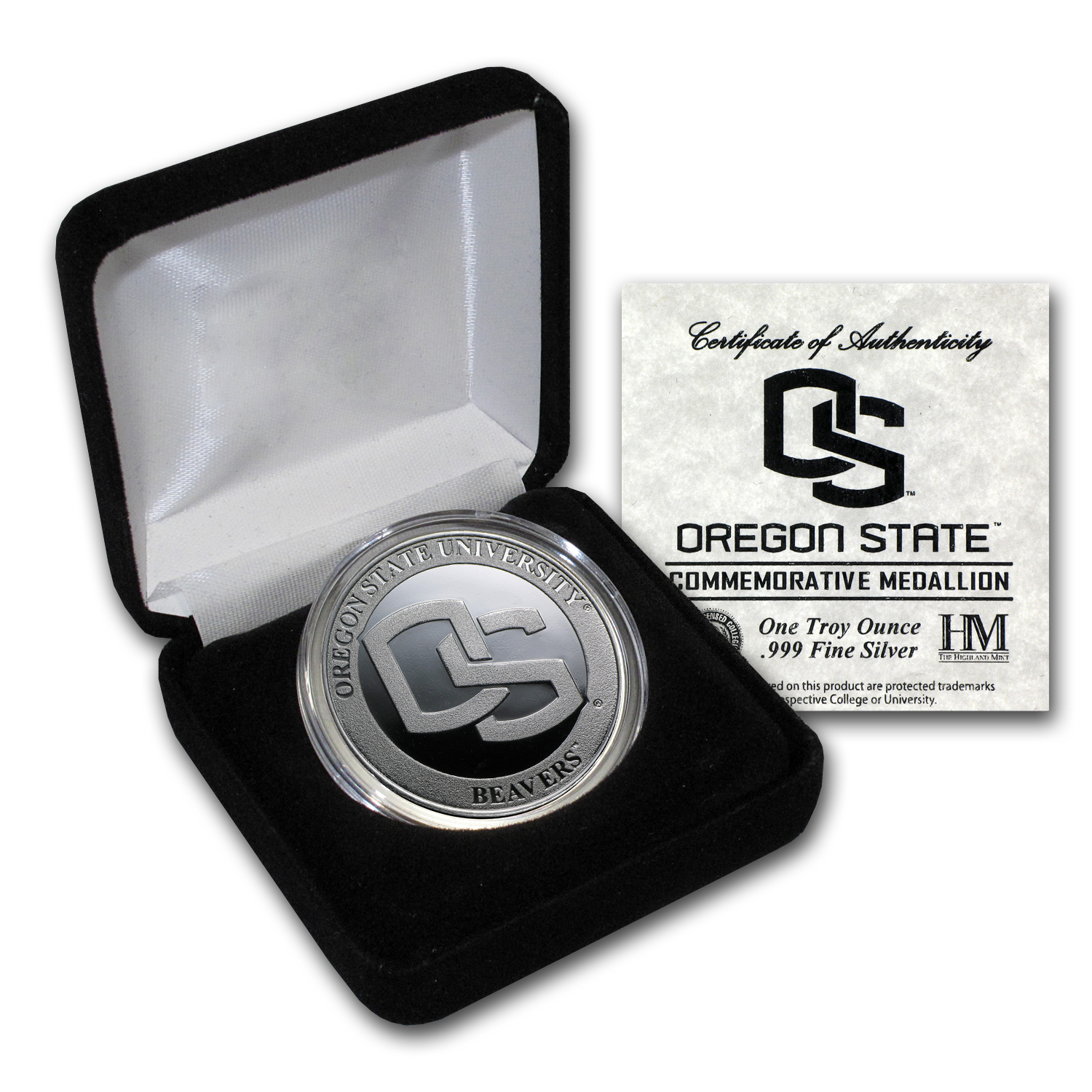 1 oz Oregon State University Silver Round