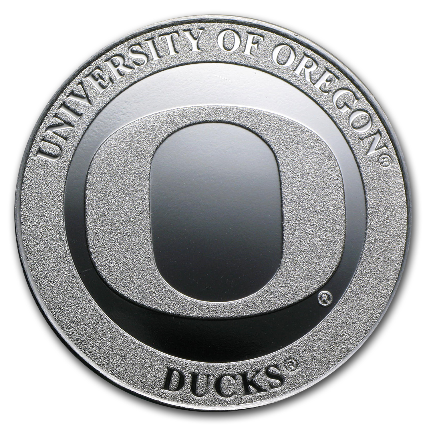 1 oz University of Oregon Silver Round